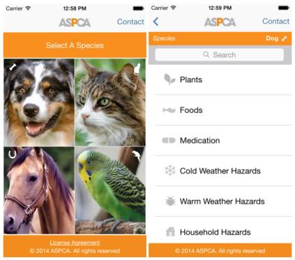 animal poison control centre app
